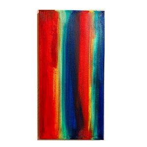 Wall Art - Hand painted rainbow canvas wall art